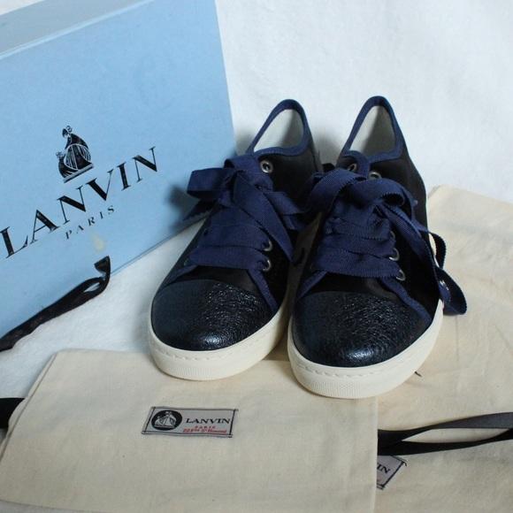 Lanvin Paris Satin Sneakers